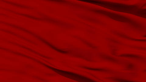 Waving red blank flag closeup Animation
