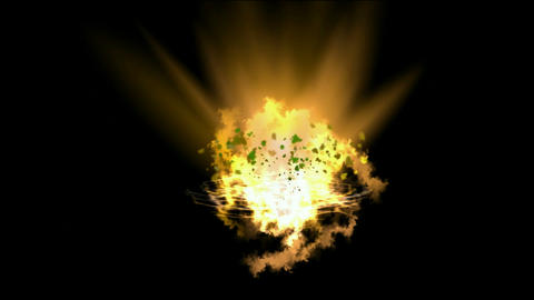 dazzling fire light & goldmine explosion,birth of galaxy... Stock Video Footage