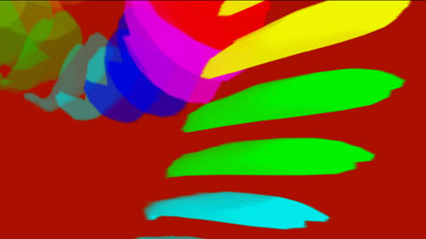 falling color feathers & paper debris Stock Video Footage