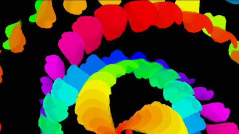 swirl feathers & petals shaped smooth silk ribbon Animation