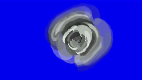 gray rose opening time lapse with smooth rotation Stock Video Footage