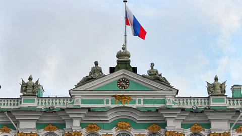Middle of the Hermitage Museum Stock Video Footage