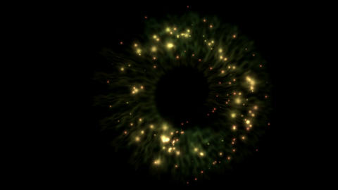 flare fiber optic & stars shaped swirl energy storm tunnel in universe Animation