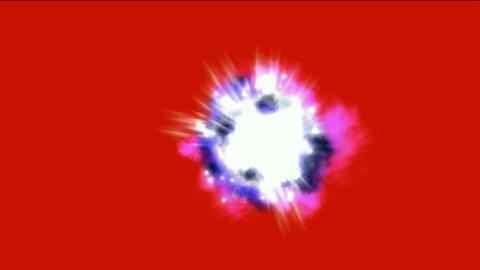 Nebula & supernova explosion in space background Animation
