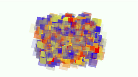 watercolor square mosaic papers & debris background Animation