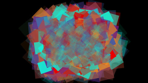 watercolor square mosaic papers & chaos debris array... Stock Video Footage
