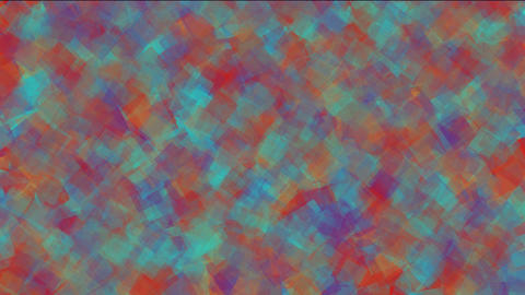 watercolor square papers & mosaic debris noise background Stock Video Footage
