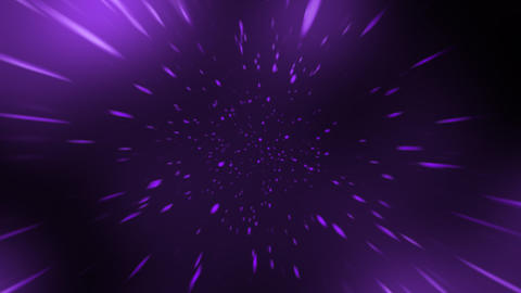Loopable Space Travel with Purple Colour Animation Stock Video Footage