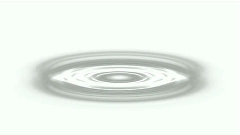 ripple in pond,gray oval & round shaped hole Stock Video Footage