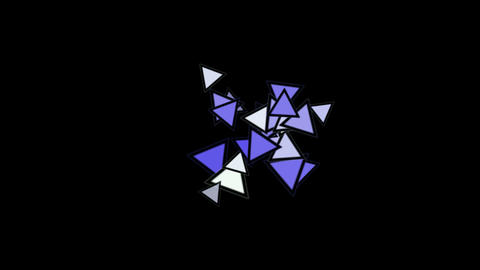 triangles card flying,abstract math geometry Animation