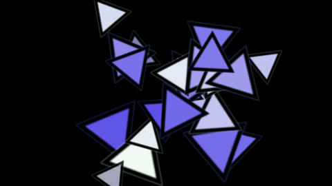 triangles card mosaics flying,abstract math geometry Animation