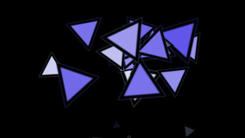 triangles card mosaics flying,abstract math geometry Stock Video Footage