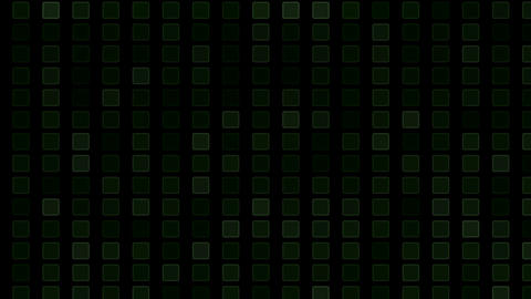 square and block Brick matrix wall,tech computer background Stock Video Footage