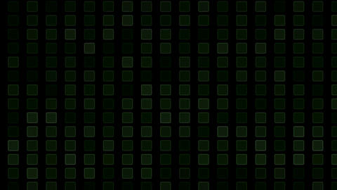square and block Brick matrix wall,tech computer background Animation