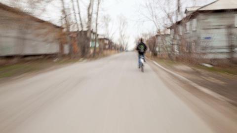 Biker, Time Lapse Stock Video Footage