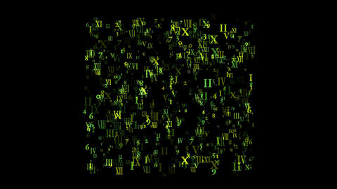 abstract alphabet matrix and computer business number,finance market display Animation