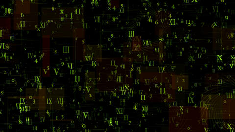 number and alphabet matrix in square wire... Stock Video Footage