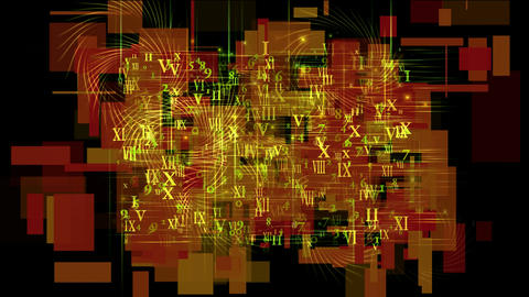 number and alphabet matrix in square wire background,higher mathematics and calculus,finance market Animation