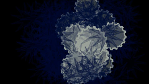 flying snowflake and daisy flower,natural microbe Stock Video Footage