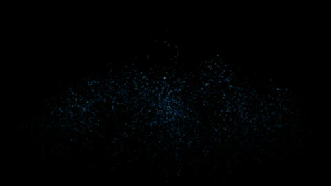 splash waterdrops and dazzling particles shaped oval... Stock Video Footage