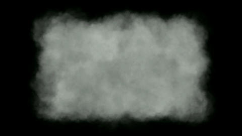 Nuclear explosion smoke and cloud in darkness,military explosives smog,blotting out the sun,dark end Animation