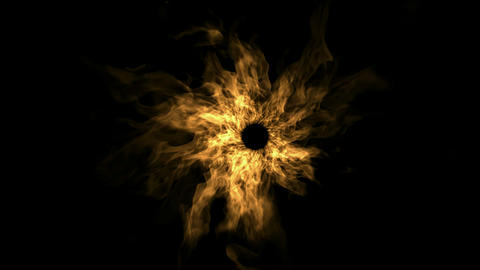 fire tunnel hole in space,swirl flame halo,terror hell gates Stock Video Footage