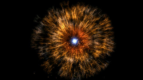 galaxy and cluster explosion in space,flying through... Stock Video Footage