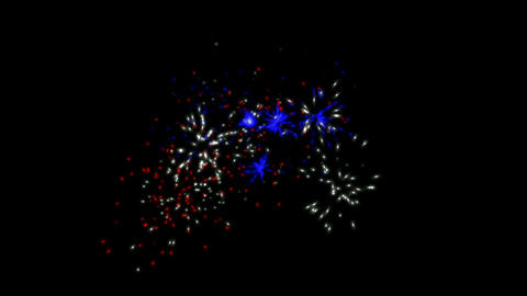 holiday fireworks and particle at night Stock Video Footage