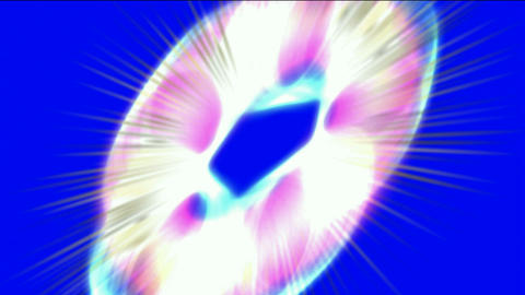 color rays light round shaped circle,virtual... Stock Video Footage