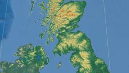 Glasgow (United Kingdom). Bumps shaded Animation