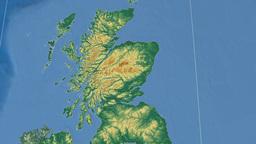 Moray (United Kingdom). Bumps shaded Animation