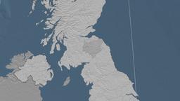 Scottish Borders (United Kingdom). Bumps Animation