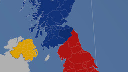 Scottish Borders (United Kingdom). Solids Animation