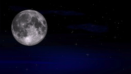 Simulated Galaxy With Moon stock footage