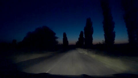 Dark Night Mysterious Mystical Road 30s Footage