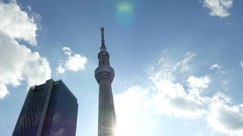 Sky tree look up 4 K x 2 04 ビデオ