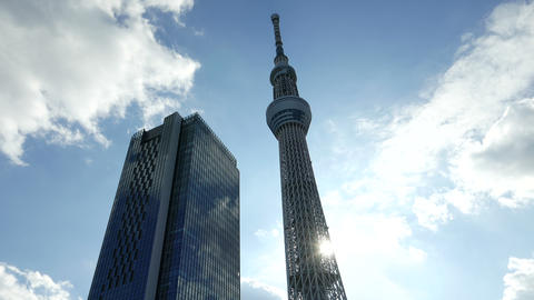 Sky Tree Look Up 4 K X 4 03 stock footage