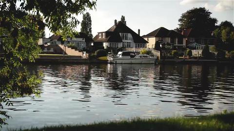 English Riverside stock footage