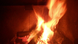 Fire burning in a oven/ fireplace; 9 times faster Footage