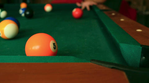Billiard balls Footage