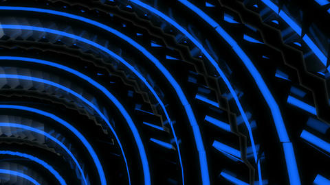 blue neon spin Animation