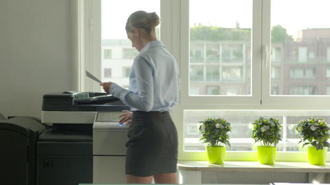 Busy Businesswoman Manager Business Woman Secretary Girl Working In Office Footage