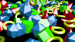Boid Animation Of Polyhedron stock footage