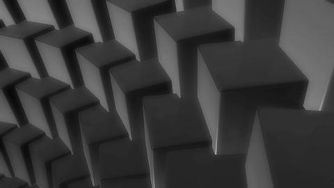 gray cube array Animation