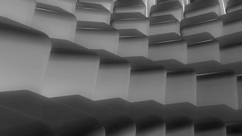 gray cubes flowing Animation
