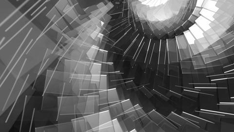 white twirl cubes Animation