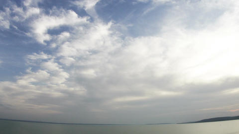 Lake Balaton Hungary Fisheye Timelapse 2 Footage