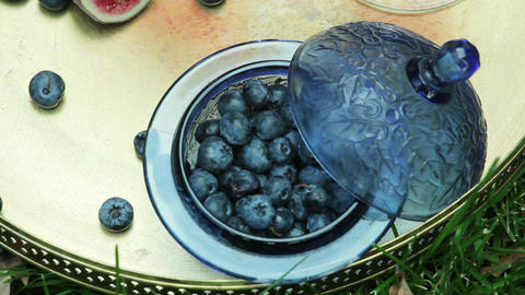 autumnal still life with blueberry Live Action