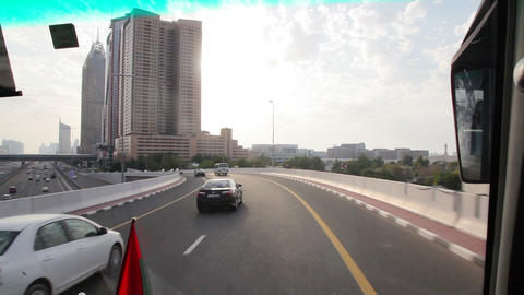 timelapse drive through dubai Footage