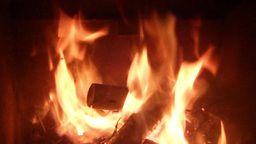 Fire burning in a oven/ fireplace with 6x speed Footage